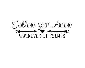 Follow your arrow for a 18in x3in board