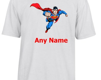 Personalised Superman style T Shirt  *Choice of name colours*