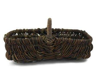 Antique French Basket. Harvest Basket. French Country Kitchen Decor. Storage Basket. Gardening Gift