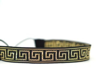 Black and Gold Greek Key Headband