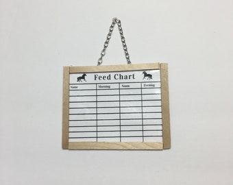 model horse feed chart