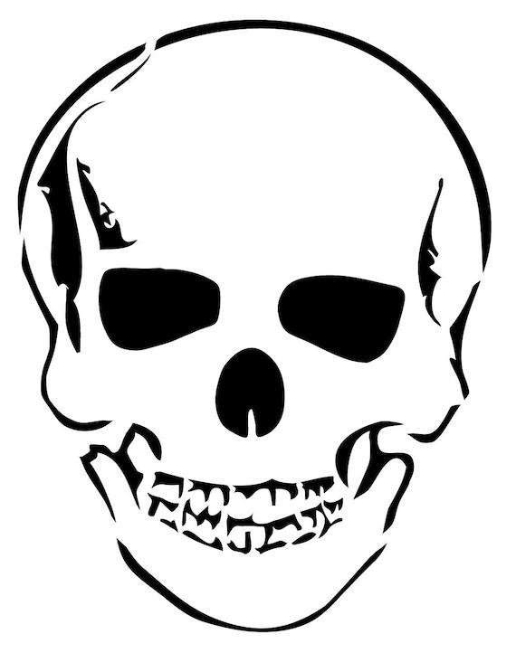 HW22 Reusable Laser-Cut Stencil Skull