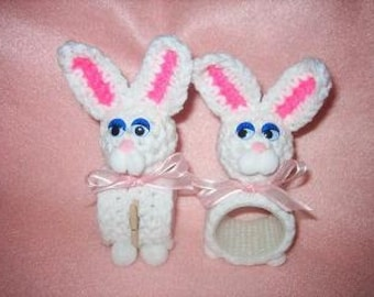 Bunny Napkin Rings and Place Setting