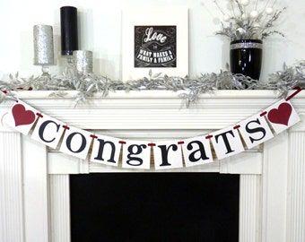 CONGRATS Banner /2018 Graduation Banner / Party Decoration /Graduation Garland /Congratulations Graduate /College /Class of 2018 decoration