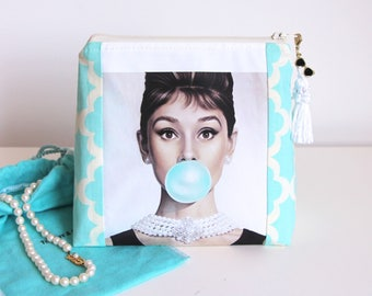 Audrey Hepburn Cosmetic Bag Jewelry Pouch