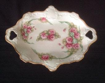 Unique hand painted porcelain collector's plate