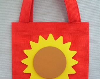 canvas favor bag,sun favor bag,birthday bag,loot bag,