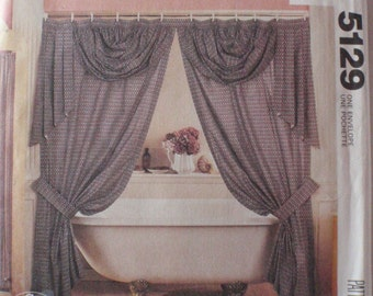 Home Dec Pattern - Swags, Jabots, Valances, Shower Curtain, Canopy and More - McCall's 5129, Uncut