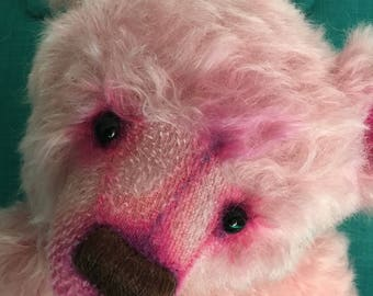 Stella, Ooak mohair artist bear collectible heirloom Alaine Ferreira, Bearflair