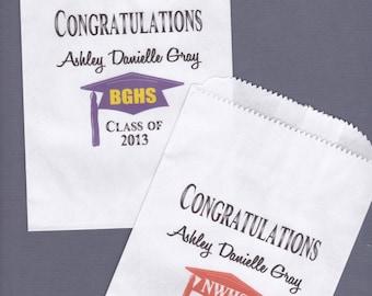 Graduation, Candy Buffet Bag, Favor Bags, Cookie Bar, Treat Bags, Personalized Bags, Graduation Party, Graduation Favor 40 bags