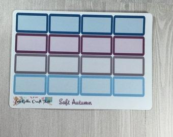 Planner Stickers-Soft Autumn  Half Box Stickers