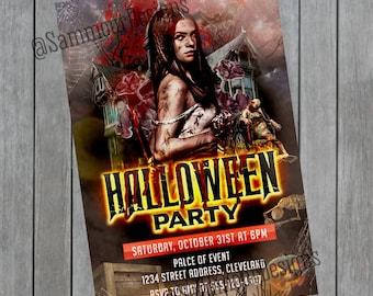 Halloween Invitation - Halloween Party - Halloween Flyer