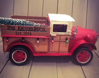 Special Listing!!  Christmas truck personalized
