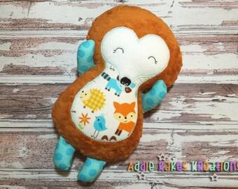 Personalized Plush Boy Hedgehog / Stuffed Animal