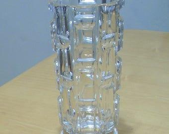Free shipping! HEAVY Mid-century lead crystal vase