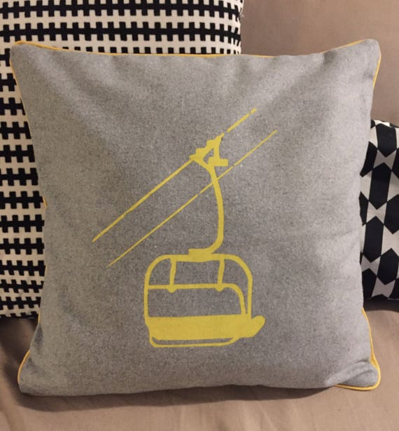 Yellow chair cushion