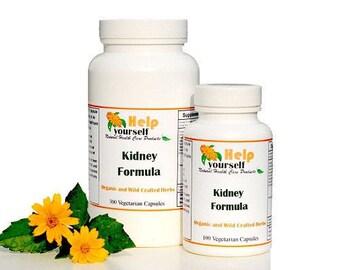 Kidney Formula 100 Vegetarian Capsules, Cleanse kidneys & kidney stones