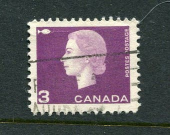 Queen Elizabeth II Stamps From Canada /Bulk Purple Stamps/ Used Purple Stamps