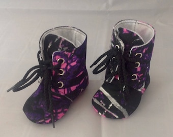 Muddy Girl® Camo Baby Boots | Lace Up | Newborn size up to 4T | FREE Shipping in the US