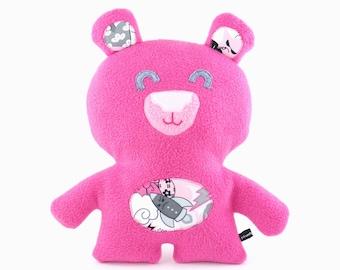 Large Pink Bear Plush, teddy bear, cuddly, baby gift, child friendly, cuddly, cute, stuffed animal
