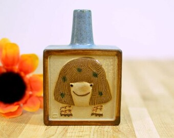 Mid Century Turtle Women Mini Vase Lisa Larson Style