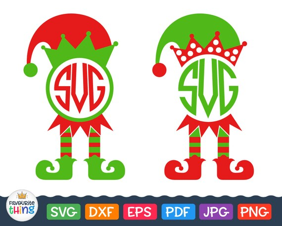 Elf Svg Christmas Elf Svg Elf Monogram Svg Files Elf Legs Svg