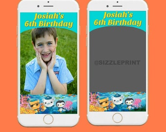 OCTONAUTS GEOFILTER  Plus Family & Friends Message   Custom Personalized Snapchat Geofilter   Boy Birthday Party Octonauts Party
