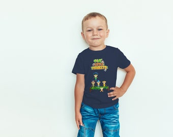 Kids Nursery Rhymes Shirt Five Little Monkeys, 5 Monkeys Song Toddler Gift For Boys, Preschool Shirt, Birthday Gift Apparel