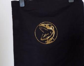 Handmade tote bag, Power Rangers, Red Ranger logo