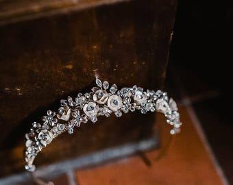 Wedding tiara, antique style tiara, bridal tiara, hair accessories, bride to be, vintage style tiara, traditional wedding