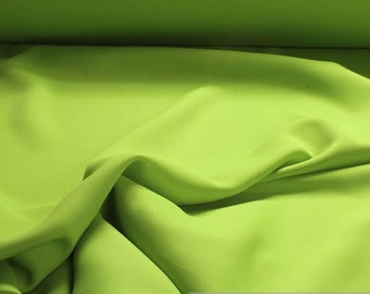 Fabric polyester black out lime green soft flowing