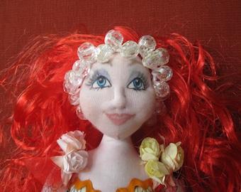 OOAK Soft Sculpture Art Doll - Etta
