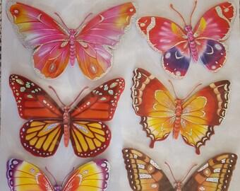 Board decor 3D BUTTERFLIES No. 2 stickers 6 15.5 cm