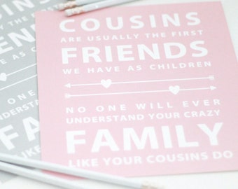 Cousins print // family print // cousins and friends print // cousins artwork // crazy family print // gallery wall print //-  Size 8x10