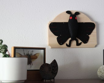 Pinned Mothman Vegan Entomology Faux Pinned Insect Taxidermy