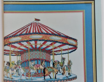 The Grand Carousel - vintage 1991 Kappie Originals cross stitch booklet - Book 410