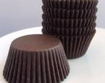 500 Chocolate Brown STANDARD SIZE Cupcake Muffin Liners Baking Cups Wrappers (Free Shipping!)