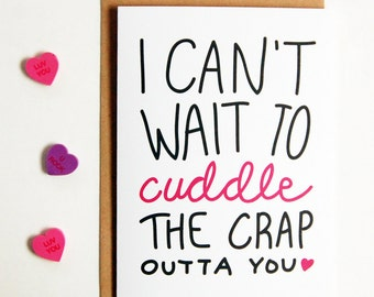 I Can't Wait To Cuddle Greeting Card, long distance boyfriend gift, boyfriend gift, long distance card, long distance relationship card