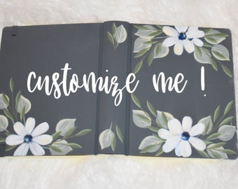 Hand Painted Bible | Wedding Guestbook | Personalized | Baptism | Anniversary Gift | Mother's Gift | Keepsake
