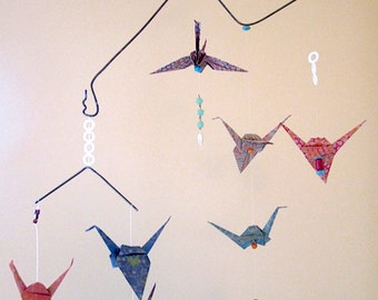 Mixed Media Origami Mobile