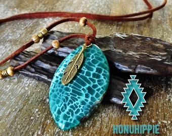 Golden feather tribal necklace, Native American jewelry
