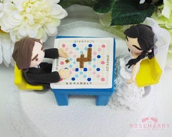 Custom Wedding Cake Topper - Play Scrabbles!!
