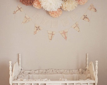 SALE / NURSERY POMS / 15 tissue paper pom poms / wedding decorations / diy kit baby shower decor / neutral decorations / party poms pompoms