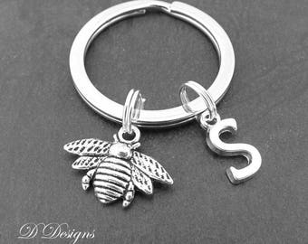 Bee KeyRing, Bee KeyChain, Insect KeyChain, Personalised Bee Key chain, Bee Jewellery, Bee Gifts