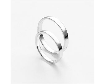 Rein Rings - Minimalist Wedding Bands - Simple Wedding Bands - Minimalist Wedding Rings - Couples Jewelry - Simple Jewelry for Couples