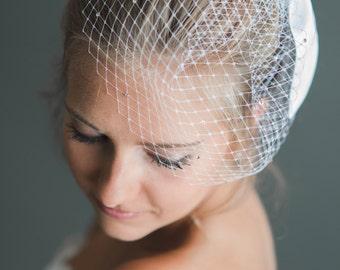 Bridal Birdcage with swarovski beads-made to order-
