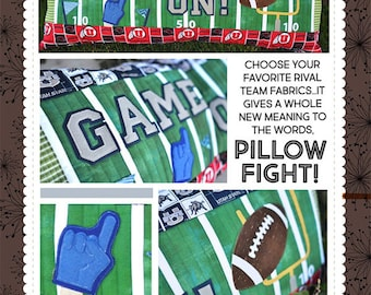 Quilt Pattern by Kimberbell:  Game On! Football Bench Pillow