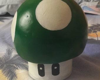 Mario mushroom piggy bank, piggybank