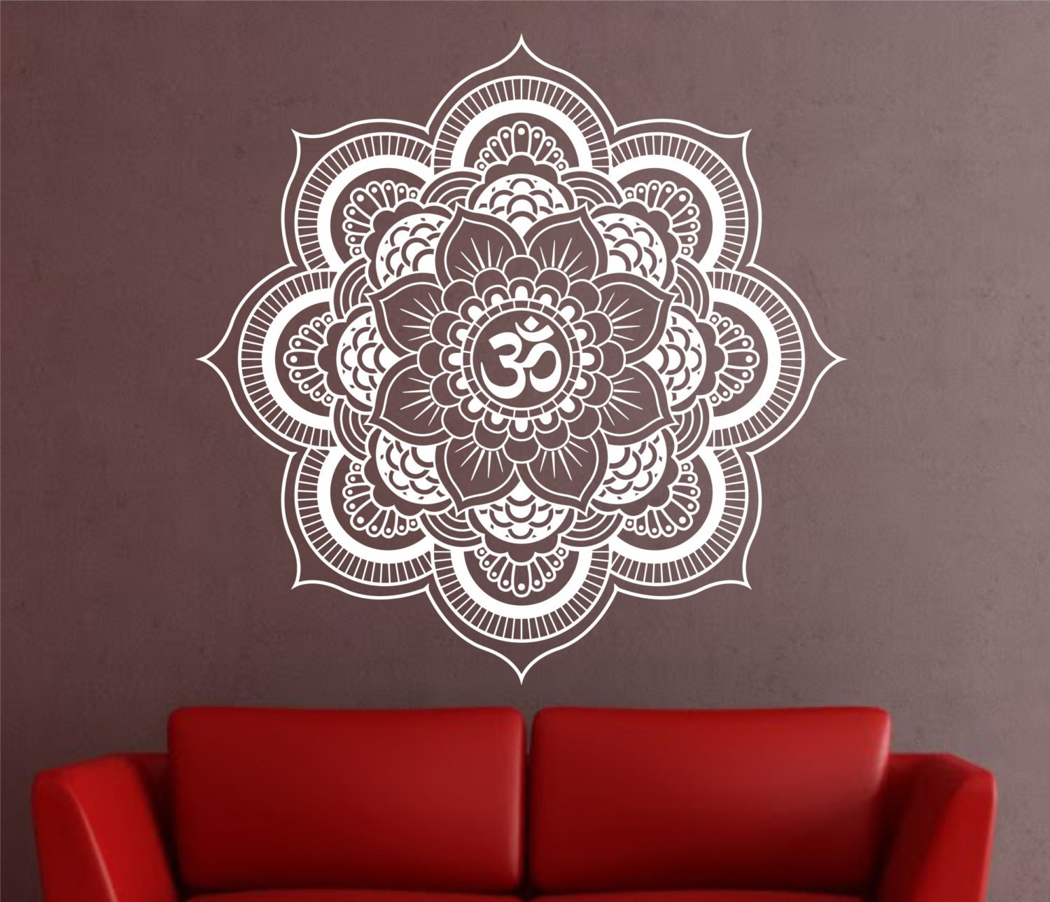 Mandala Wall Decal Sticker Yoga Om Namaste Decor