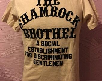 Vintage Shamrock Brothel T-Shirt M 80's